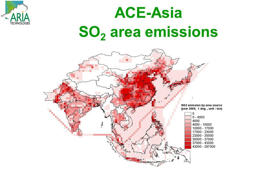 ACE-Asia SO2 area emissions
