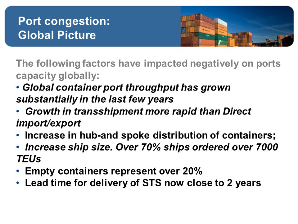 Port congestion: Global Picture