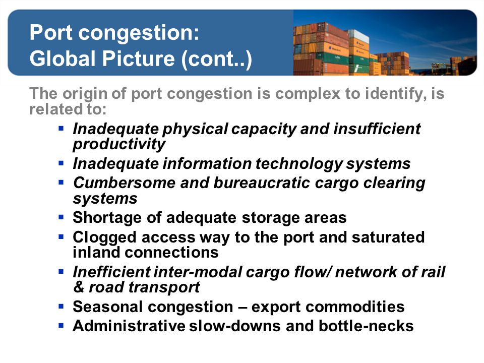 Port congestion: Global Picture (cont..)