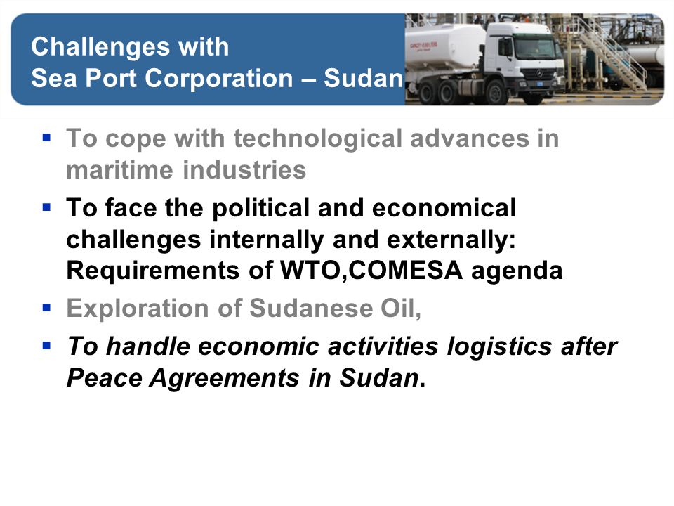 Challenges with Sea Port Corporation – Sudan
