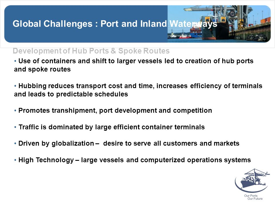 Global Challenges : Port and Inland Waterways