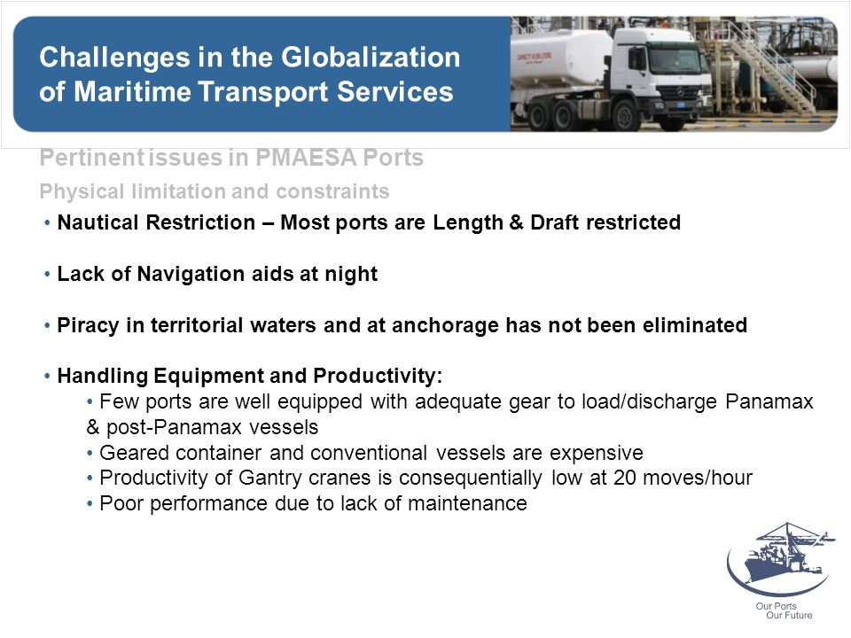 Challenges in the Globalization of Maritime Transport Services
