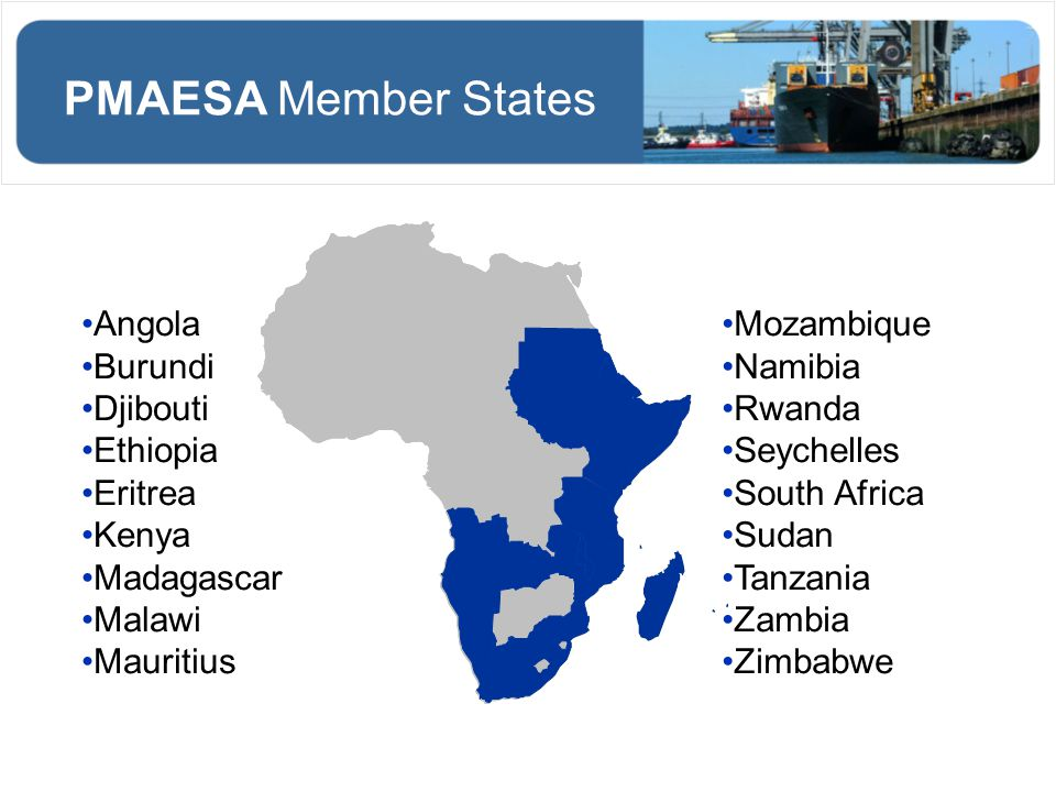 PMAESA Member States Angola Burundi Djibouti Ethiopia Eritrea Kenya