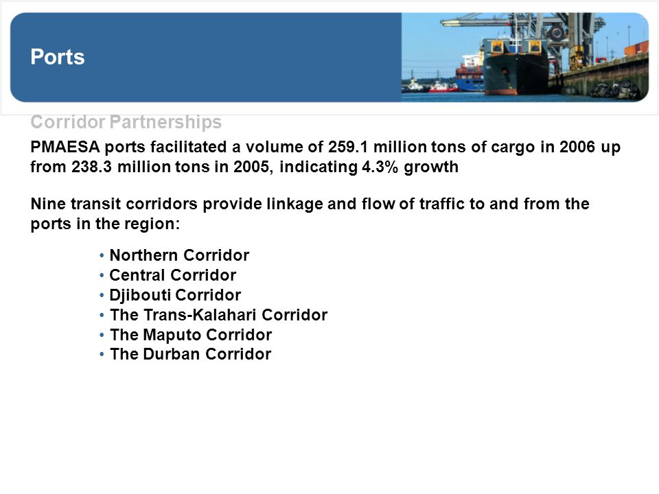 Ports Corridor Partnerships