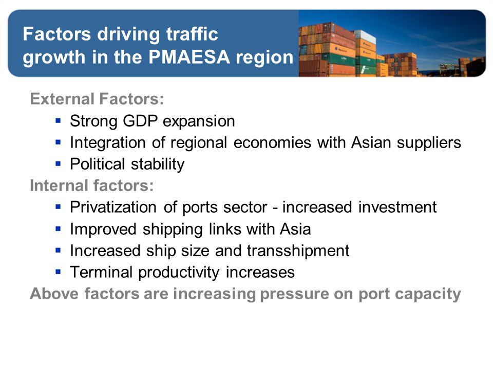 Factors driving traffic growth in the PMAESA region