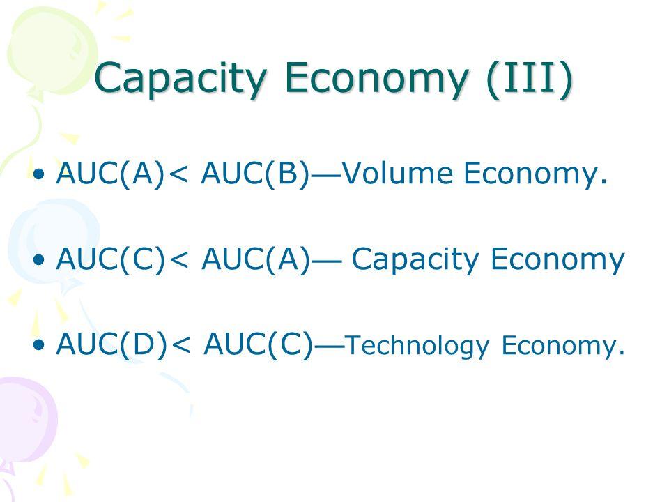 Capacity Economy (III)