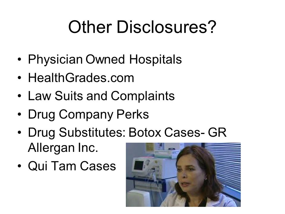Other Disclosures Physician Owned Hospitals HealthGrades.com