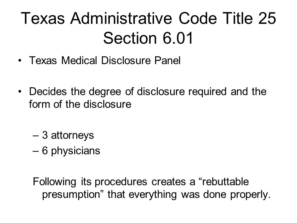 Texas Administrative Code Title 25 Section 6.01