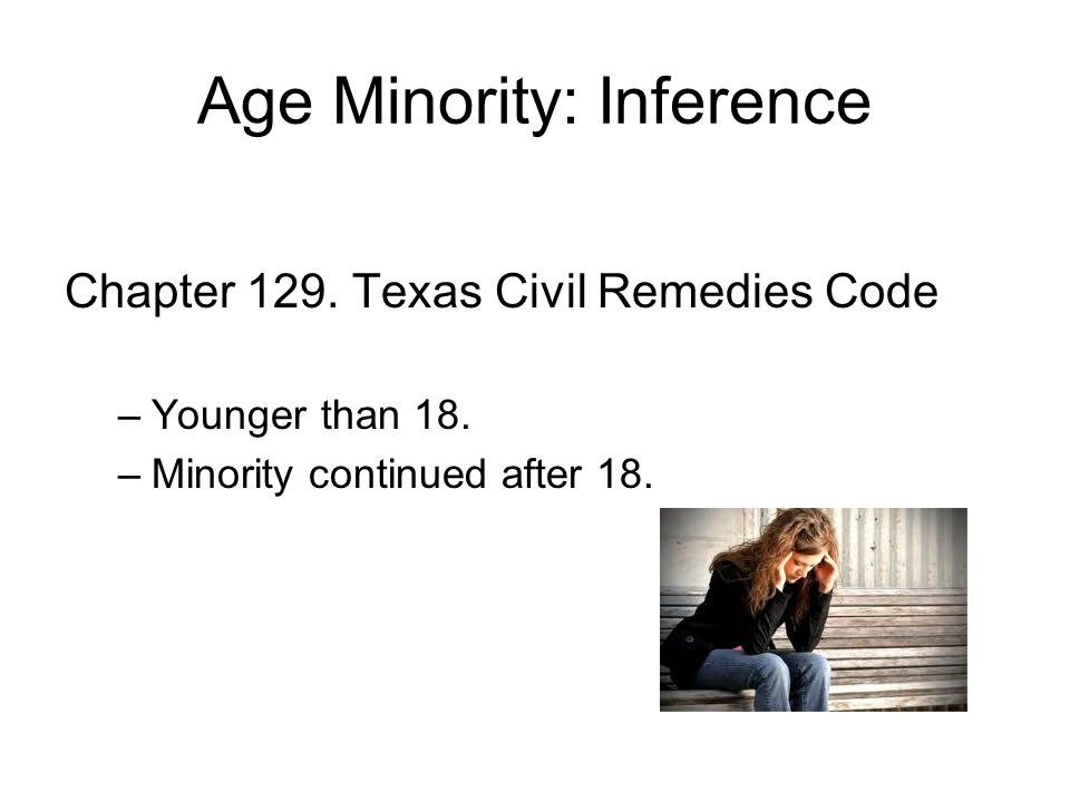 Age Minority: Inference