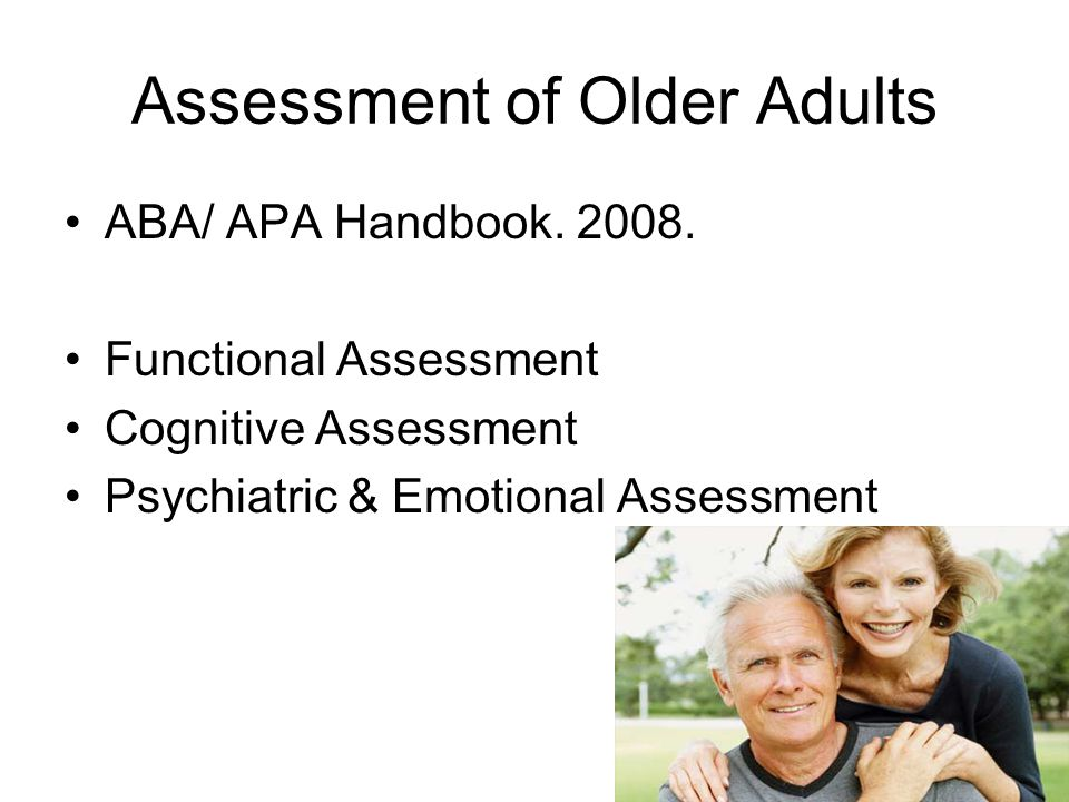 Assessment of Older Adults