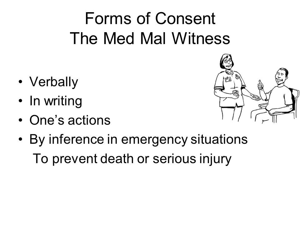 Forms of Consent The Med Mal Witness