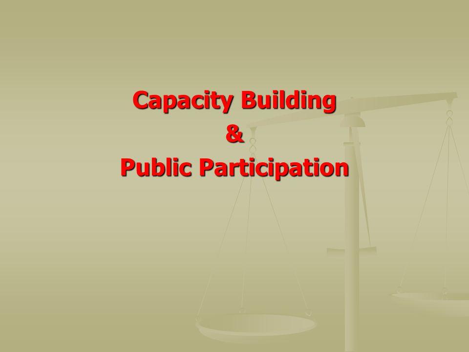 Capacity Building & Public Participation