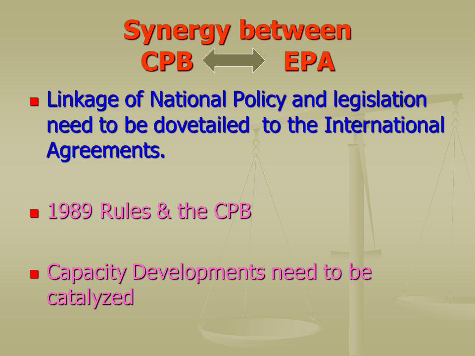 Synergy between CPB EPA
