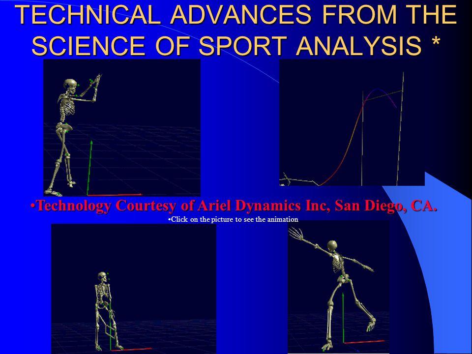 TECHNICAL ADVANCES FROM THE SCIENCE OF SPORT ANALYSIS *