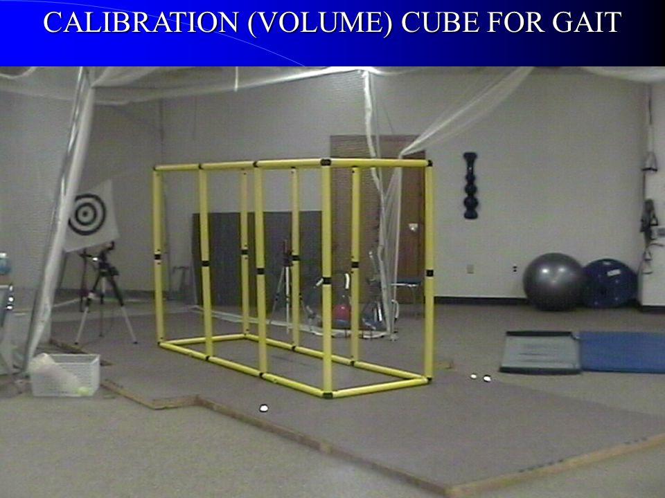 CALIBRATION (VOLUME) CUBE FOR GAIT