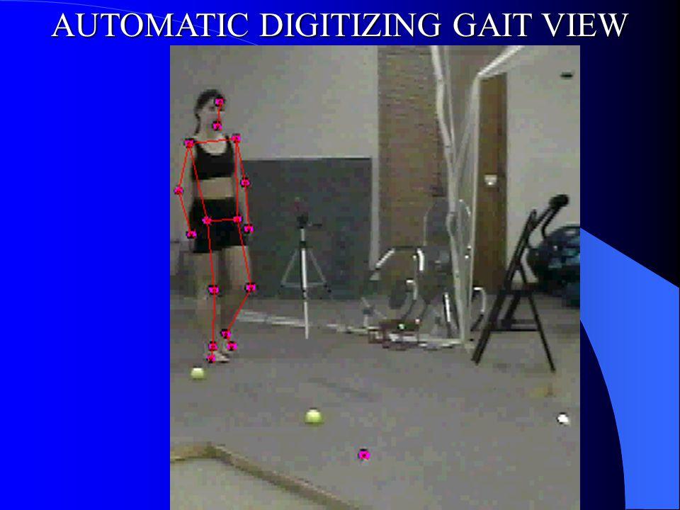 AUTOMATIC DIGITIZING GAIT VIEW