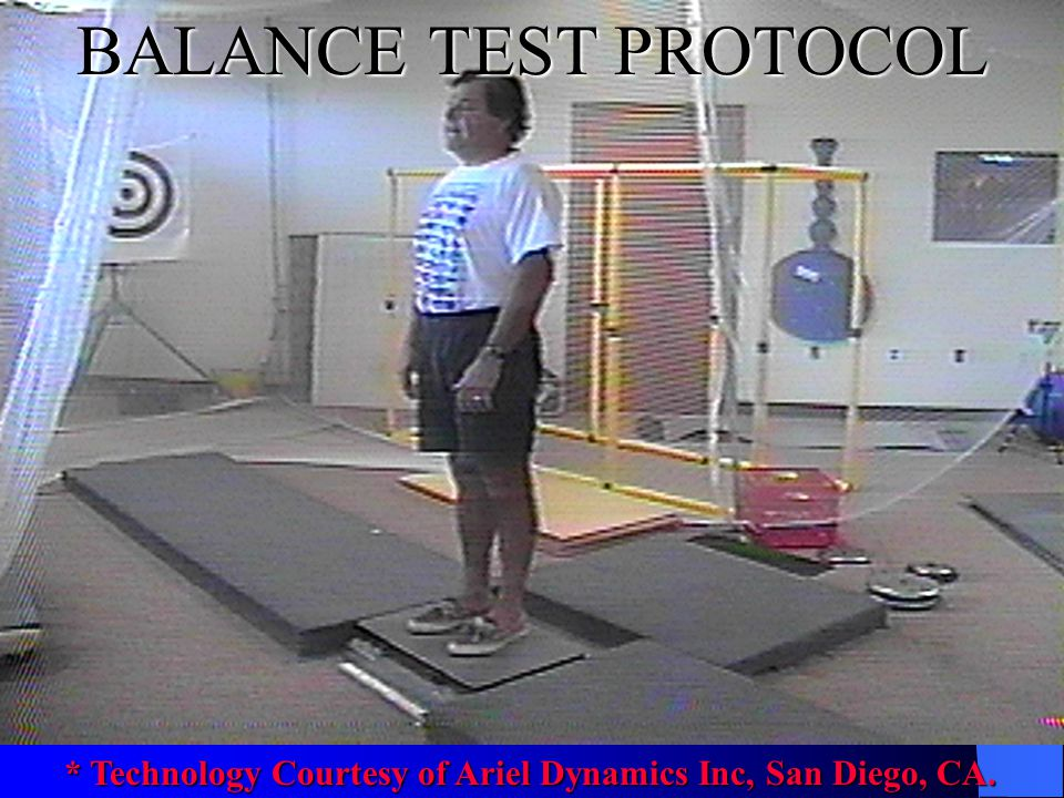 BALANCE TEST PROTOCOL * Technology Courtesy of Ariel Dynamics Inc, San Diego, CA.