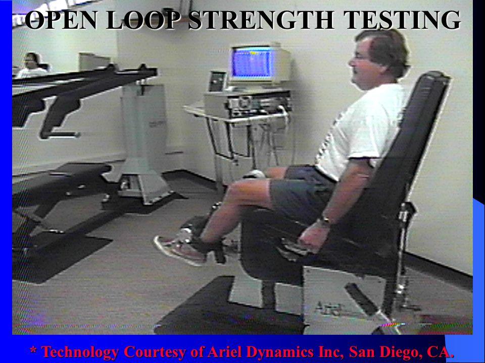 OPEN LOOP STRENGTH TESTING