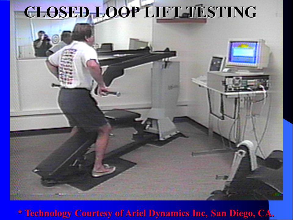 CLOSED LOOP LIFT TESTING