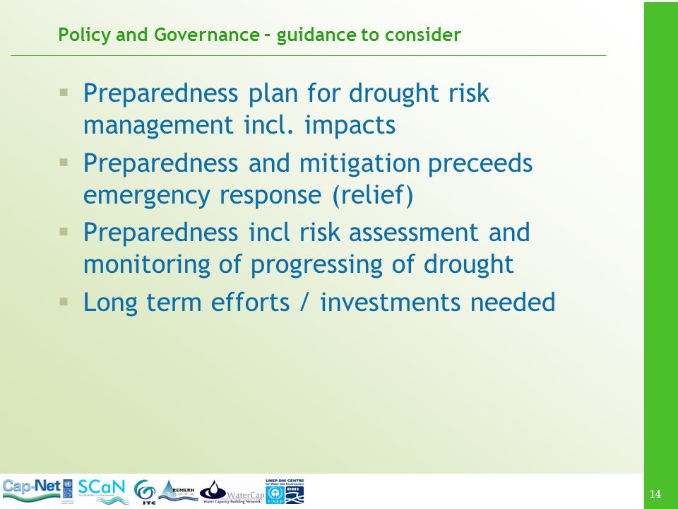 Policy and Governance – guidance to consider