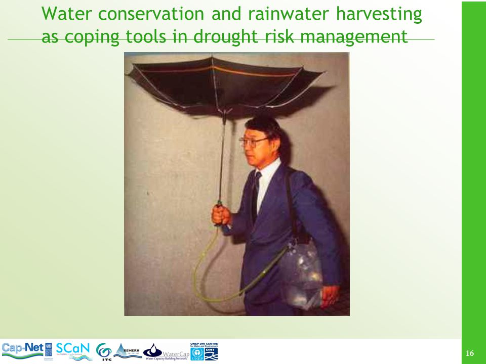 Water conservation and rainwater harvesting as coping tools in drought risk management