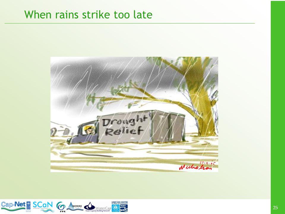 When rains strike too late