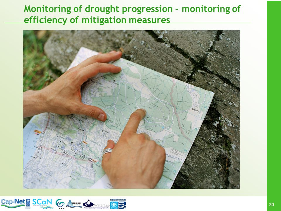 Monitoring of drought progression – monitoring of efficiency of mitigation measures