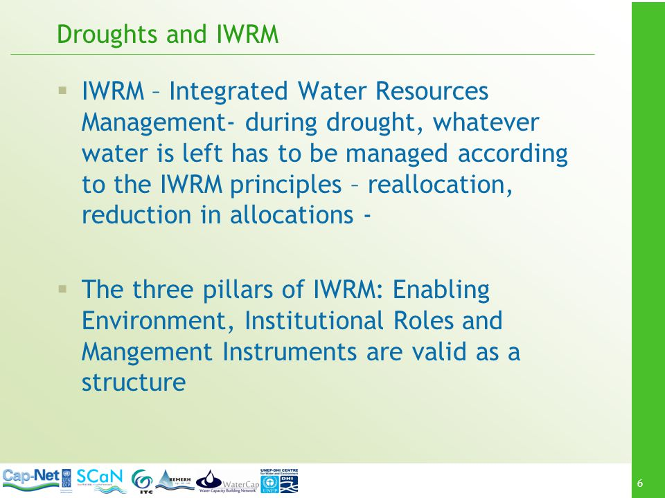 Droughts and IWRM