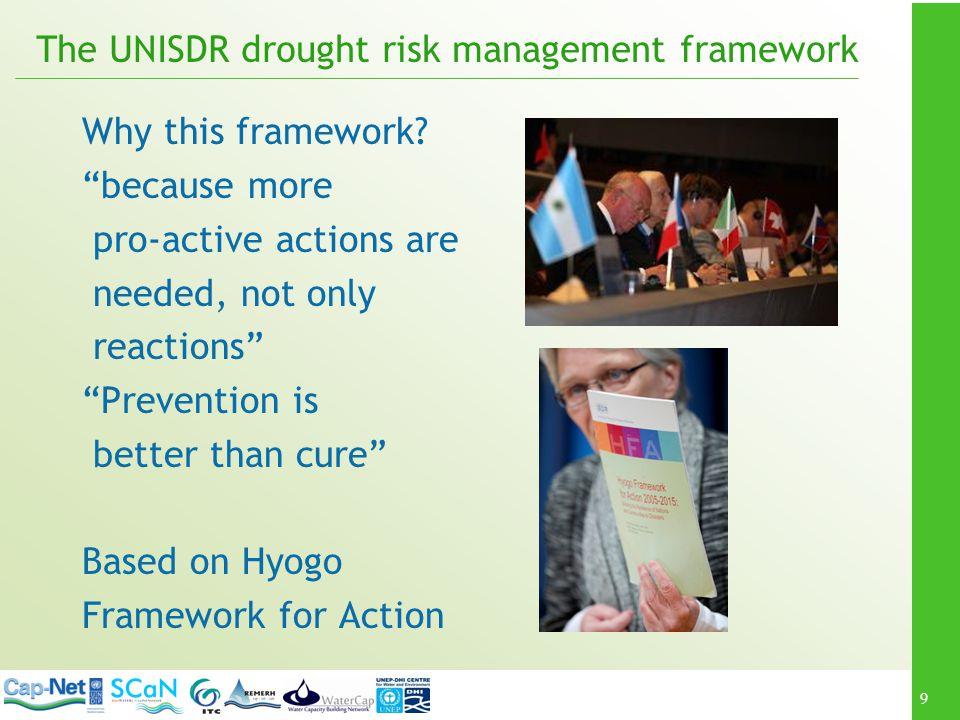 The UNISDR drought risk management framework