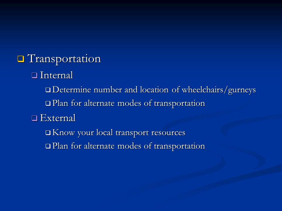 Transportation Internal External