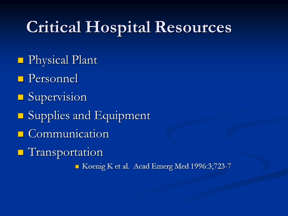 Critical Hospital Resources