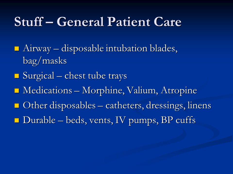 Stuff – General Patient Care