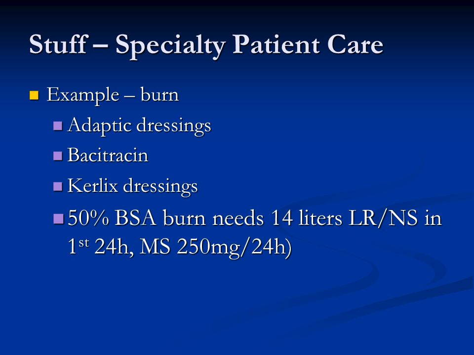 Stuff – Specialty Patient Care