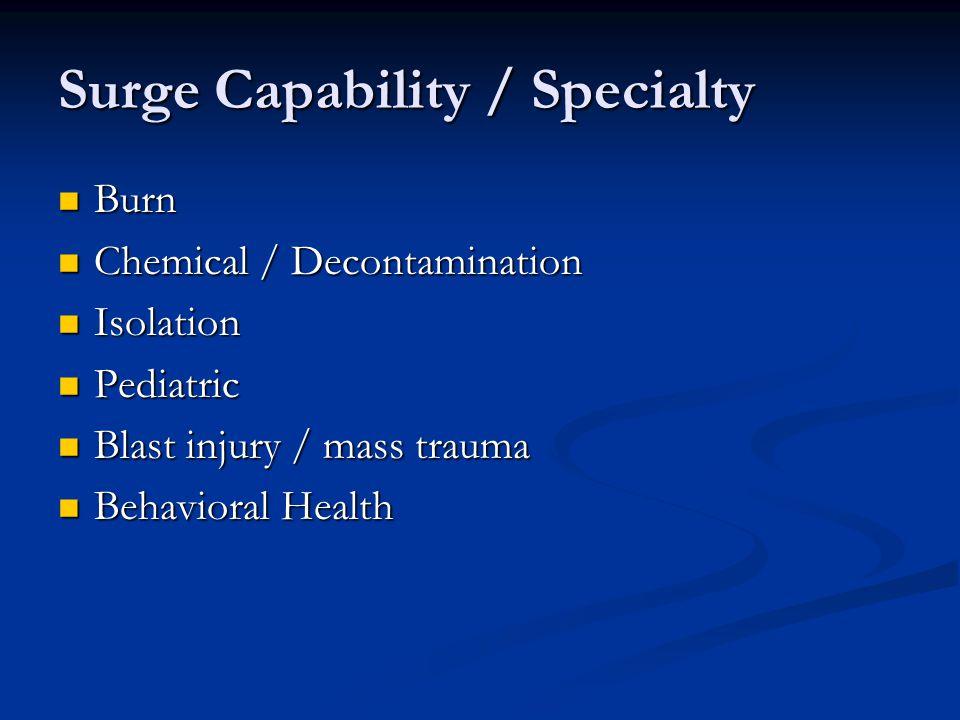 Surge Capability / Specialty