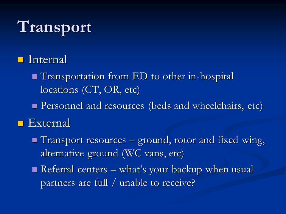 Transport Internal External