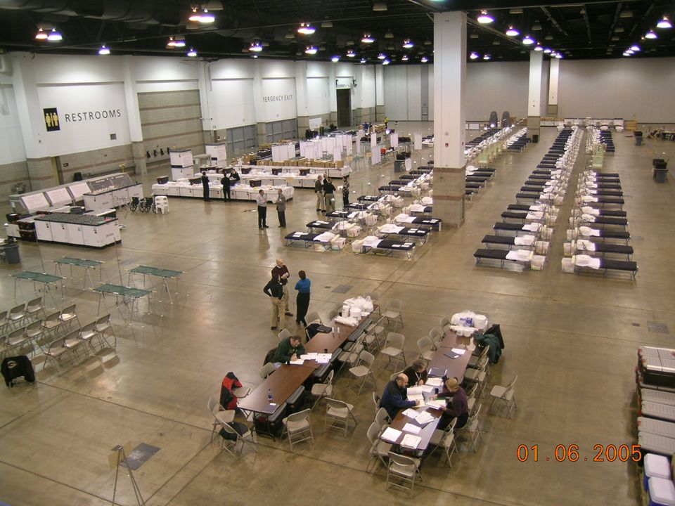 Denver, January 4-7, 2005 – first trial of the Federal Medical Station – many of these (as prior discussed) were used in Hurricane Katrina as special needs shelters and for austere care.
