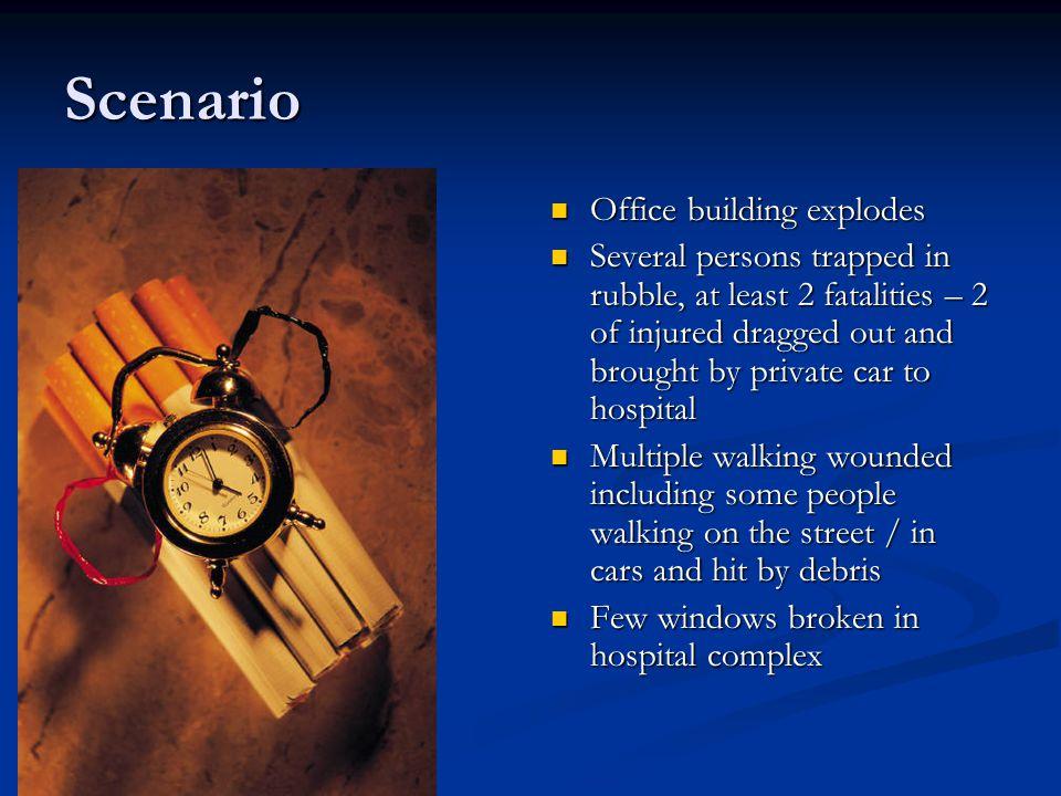 Scenario Office building explodes