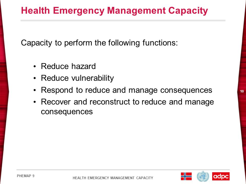 Health Emergency Management Capacity