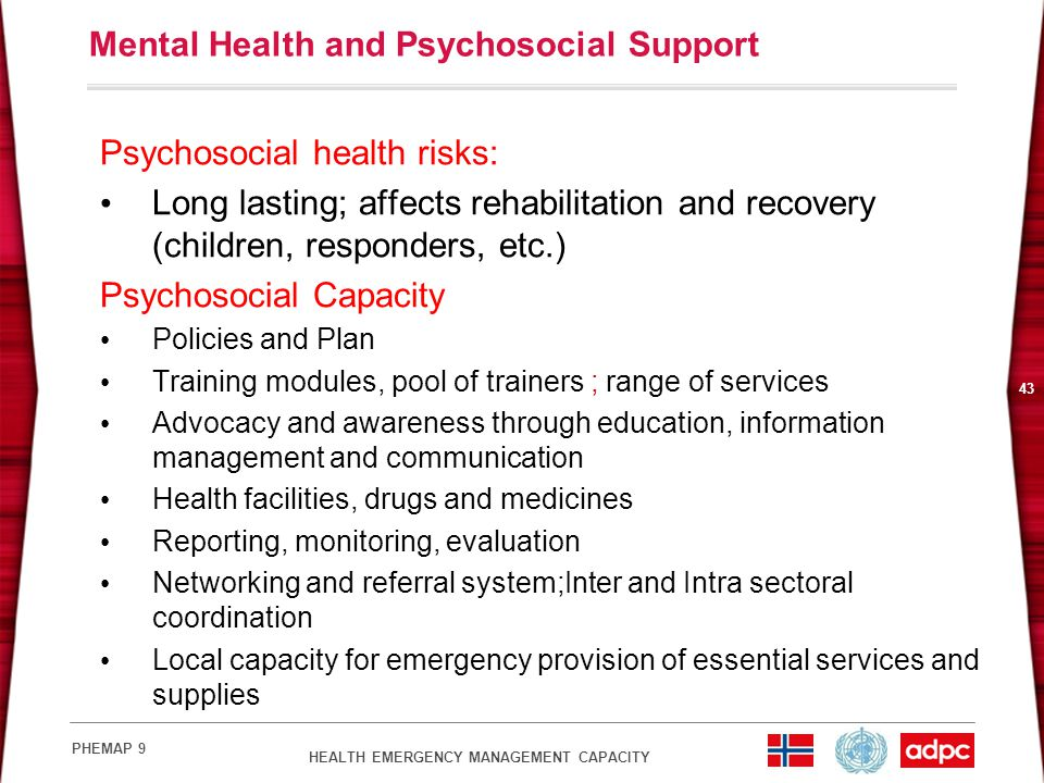 Mental Health and Psychosocial Support