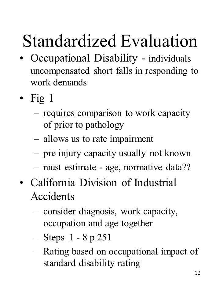 Standardized Evaluation