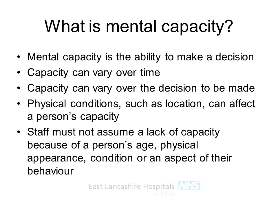 What is mental capacity
