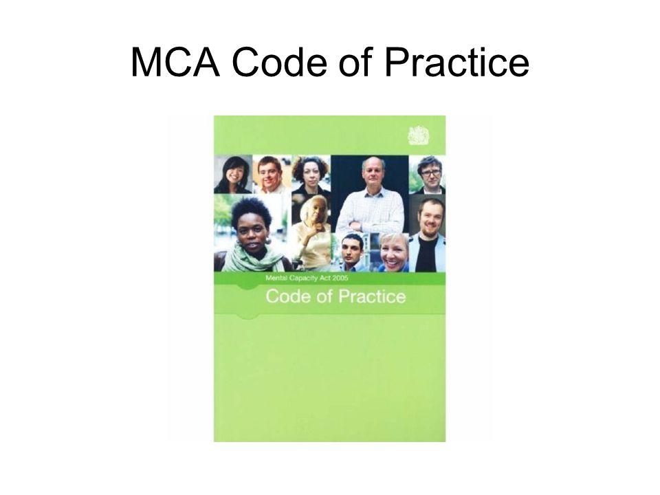 MCA Code of Practice