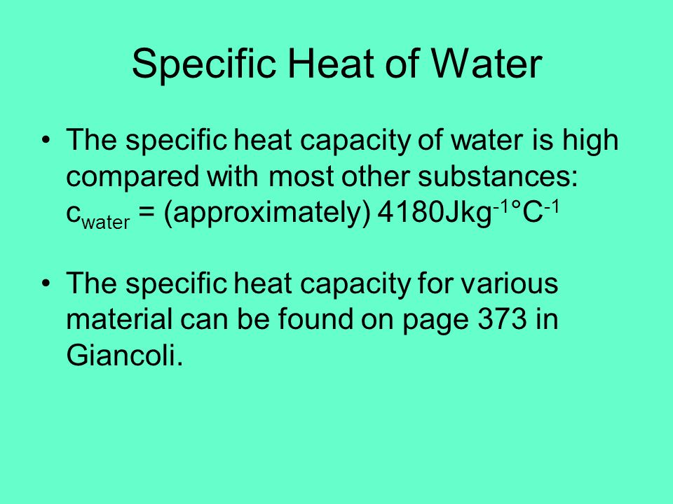 Heat Capacity and Specific Heat Capacity - ppt download