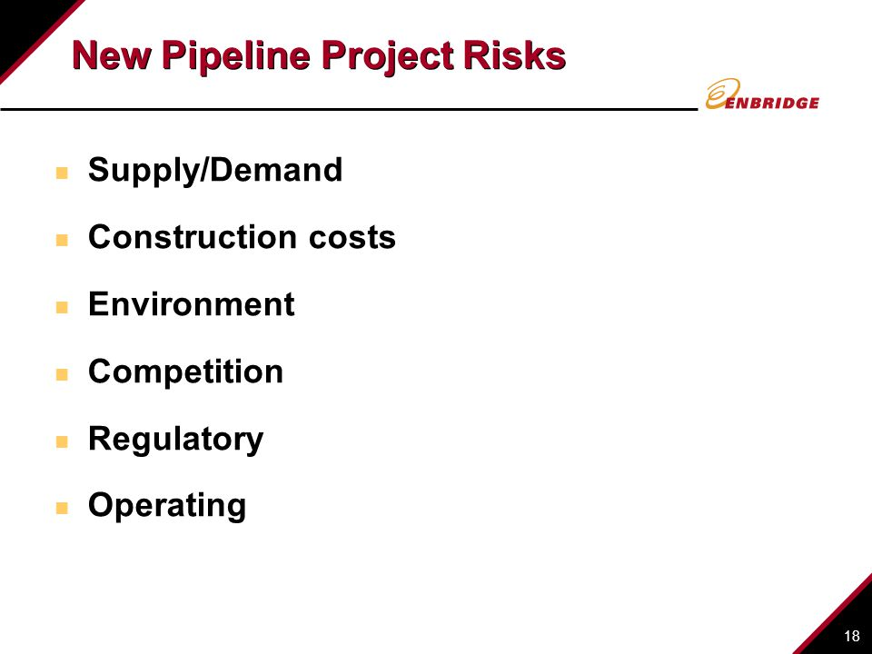 New Pipeline Project Risks