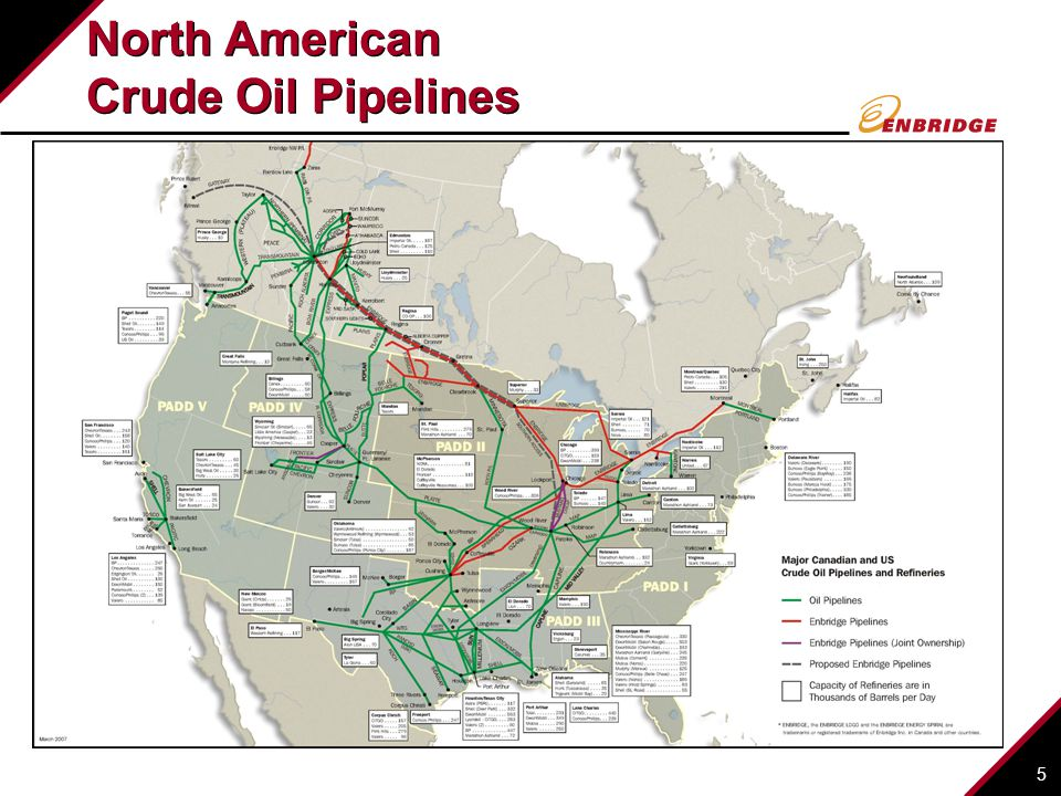 North American Crude Oil Pipelines