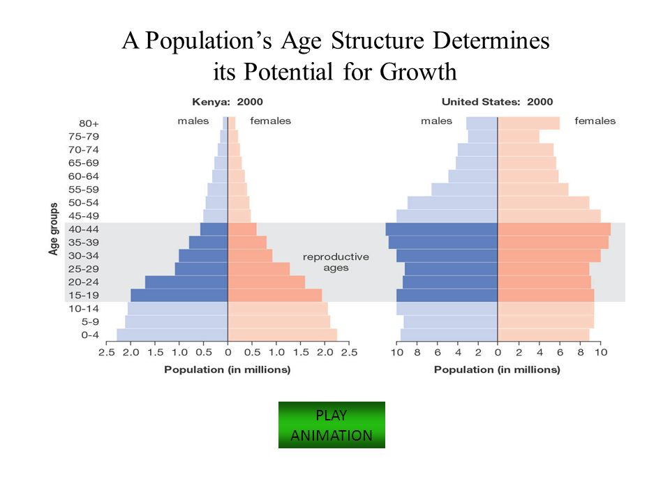 A Population's Age Structure Determines its Potential for Growth