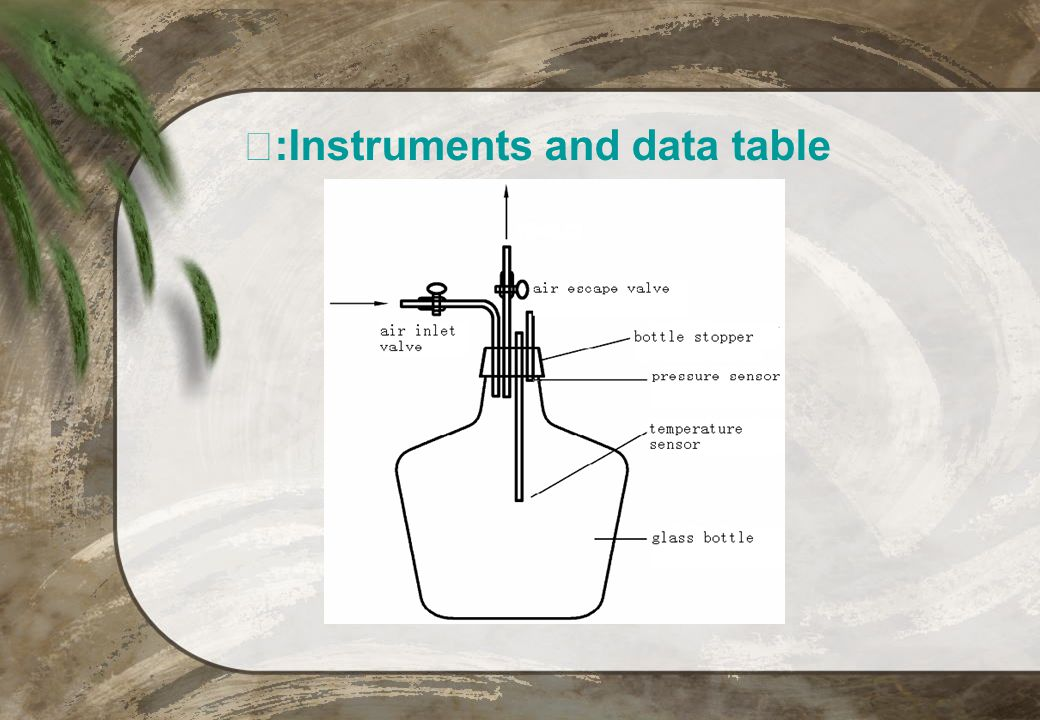 Ⅴ:Instruments and data table