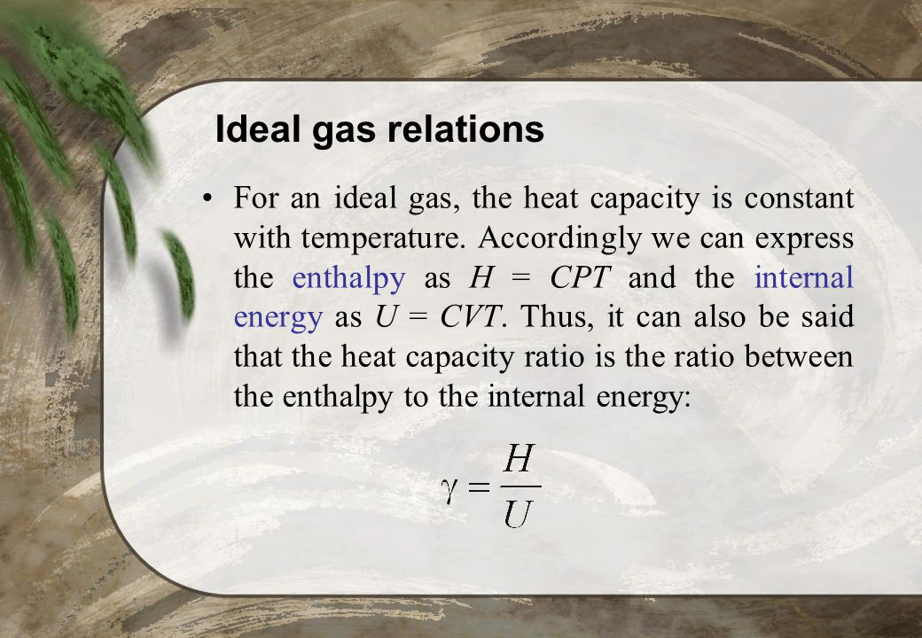 Ideal gas relations