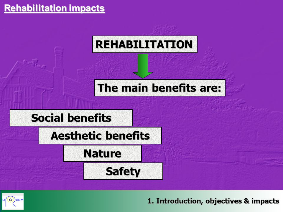 Social benefits Aesthetic benefits Nature Safety