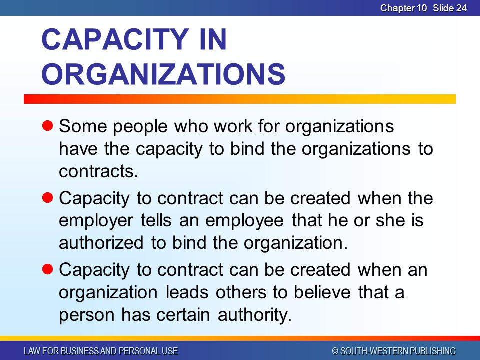 CAPACITY IN ORGANIZATIONS
